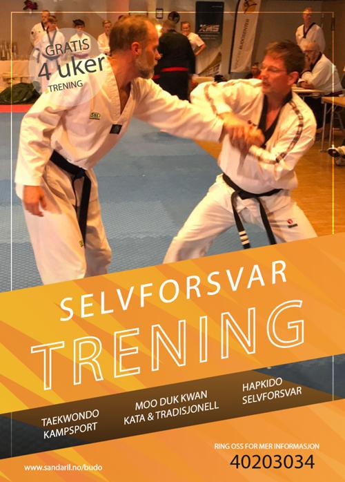 Sandar Budosenter, Taekwondo og selvforsvar, kom å prøv