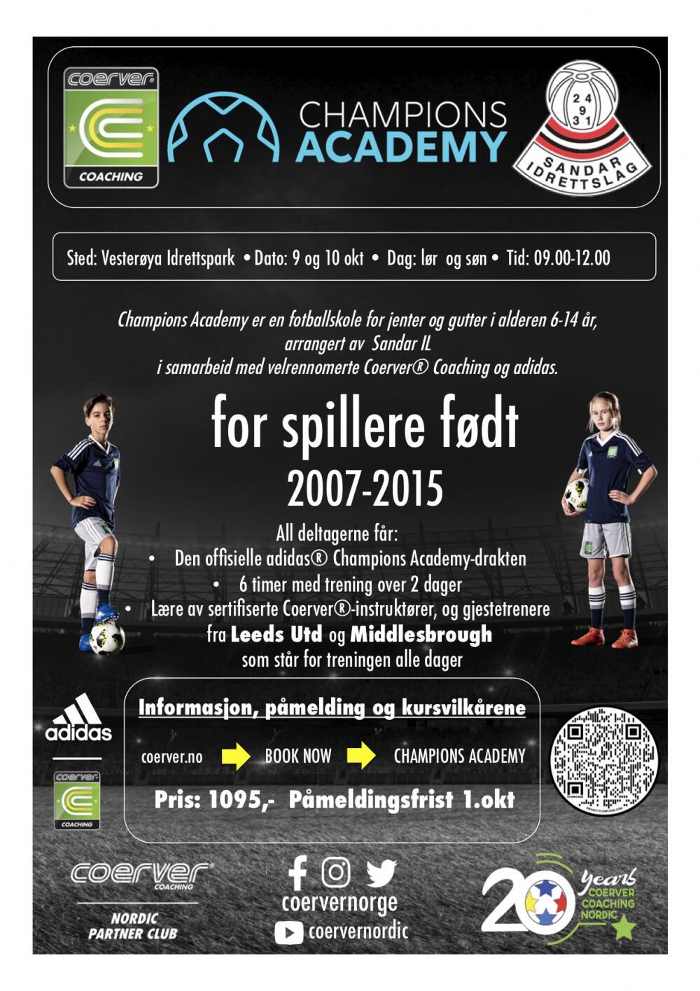 coerver fotballskole Vesterøya idrettspark